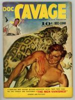Doc Savage Dec 1940 Leopard Attack Cvr, Lester Dent