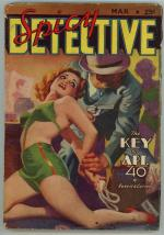 Spicy Detective Mar 1939 HJ Ward GGA Cover Art