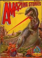 Amazing Stories Feb 1929 Frank R. Paul T-Rex Sci-Fi Cvr; H. G. Wells