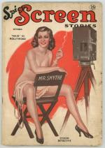 Spicy Screen Stories Oct 1935 SCARCE One-Shot Nude Girlie Pulp Title