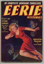Eerie Mysteries Aug 1938 FIRST issue; Norman Saunders GGA Cover