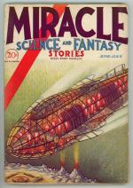 Miracle Science and Fantasy Stories Jun 1931 Cool Scifi Cover Art: Rousseau