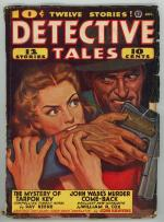 Detective Tales Aug 1942 GG bites assailant on cover