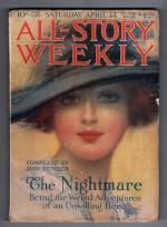 All Story Weekly Apr 14 1917 1st published Francis Stevens story; Burroughs