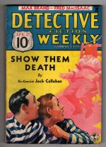 Detective Fiction Weekly Apr 27 Electric chair Cvr; Max Brand; Ray Cummings