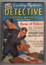 Detective Fiction Weekly Nov 7 1936 Max Brand; Johnston McCulley