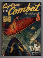 Captain Combat Apr 1940 First Issue; Flying wing Cvr