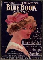Blue Book Feb 1915 Haggard The Ivory Child; First app. of H. Bedford Jones