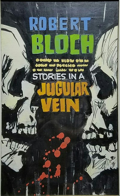 Jack Gaughan Prelim for Robert Bloch's Tales in a Jugular Vein Signed by Bloch