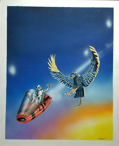 "Colin P. Langeveld Original Art - When the Sky Lords Meet 14"" x 11 1/2"""