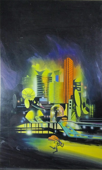 "Harry Borgman Original Cover Art for E.C. Tubb's ""TECHNOS"" ACE Double"