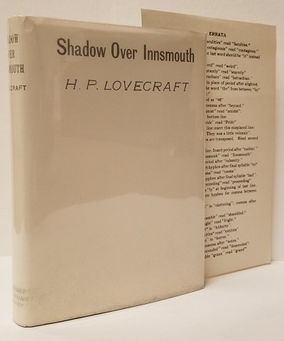 H. P. Lovecraft The Shadow Over Innsmouth, illustrated by Frank Uptatel - 1936 in original dustjacket with errata
