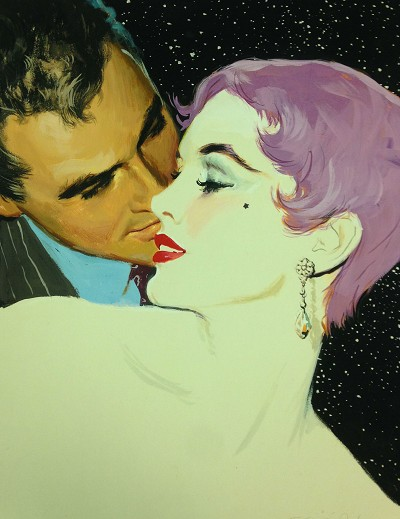 "Limited Edition Print NYC Pulp Artist Ernest Chiriacka - Whispers at Night  20"" x 16"""