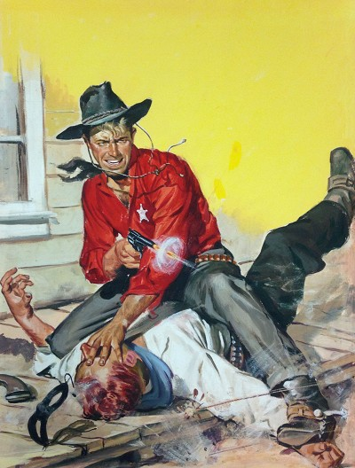 "Limited Edition Print NYC Pulp Artist Ernest Chiriacka - Shoot Out 24"" x 18"""