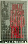 HARD FALL by Ridley Pearson FIRST