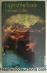 Night of the Toads by Michael Collins SIGNED FIRST