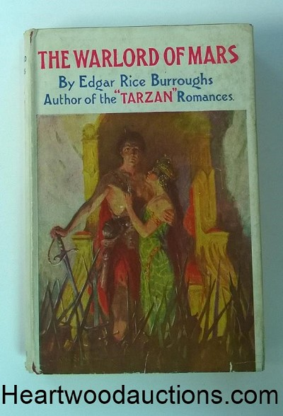The WARLORD of MARS by Edgar Rice Burroughs UK ed