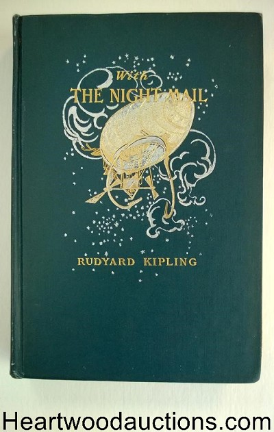 With the Night Mail by Rudyard Kipling 1st Frank Leyendecker Art