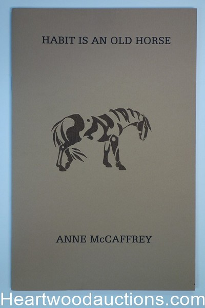 Habit is an Old Horse by Anne McCaffrey Limited(Paper Wrappers)(Fiction) (SOFTCOVER)- High Grade