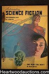 Astounding Science Fiction Nov 1949 Edd Cartier Art, Heinlein, Asimov, Hubert Rogers Cvr,