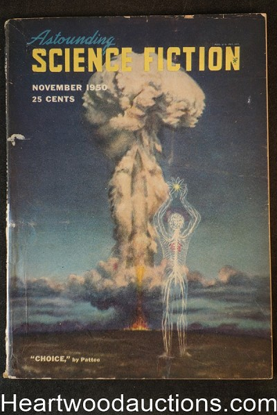 Astounding Science Fiction  Nov 1950 Edd Cartier Art