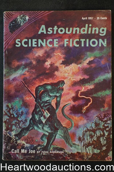 Astounding Science Fiction Apr 1957 Kelly Freas Cover, Poul Anderson