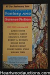 Fantasy and Science Fiction Oct 1958 Fredric Brown, Heinlein, Finney Emsh Cvr