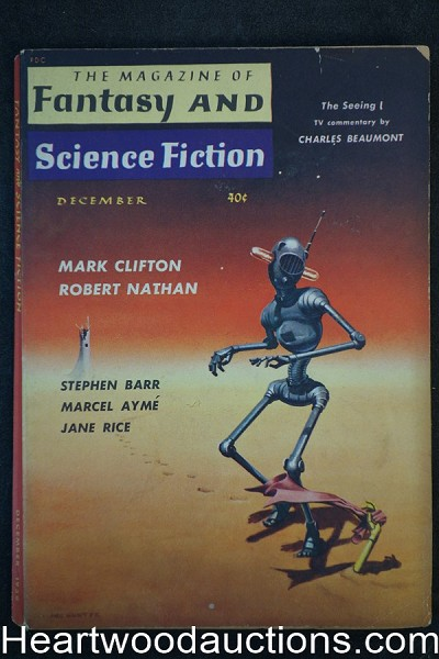Fantasy and Science Fiction Dec 1959 Asimov, Beaumont, Damon Knight