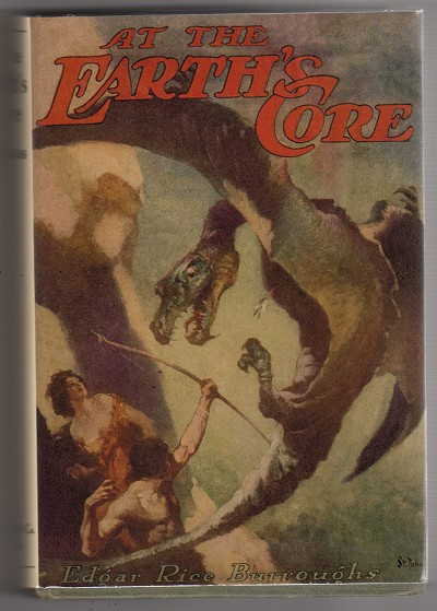 1922 First Edition At the EARTH's CORE by Edgar Rice Burroughs Association Copy Signed Hulbert and John Coleman Burroughs