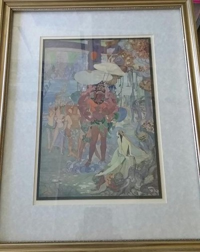 S. Sagineau ART PRINT Hindu Diety FANTASY ART Framed