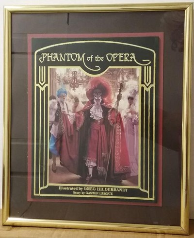 """Phantom of the Opera"" Framed Book Cover Art 1990"