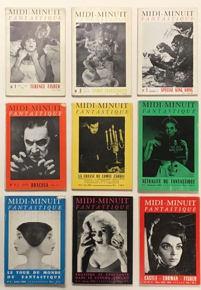 Complete Set of Midi-Midnuit Fantastique magazine of Fantasy and Sexploitation