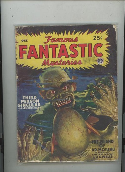 Lot of 4 Famous Fantastic Mysteries 1946/47