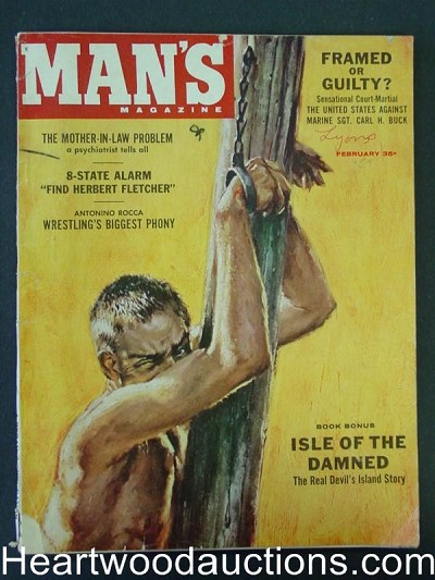 """Man's"" February 1959 Male Bondage"