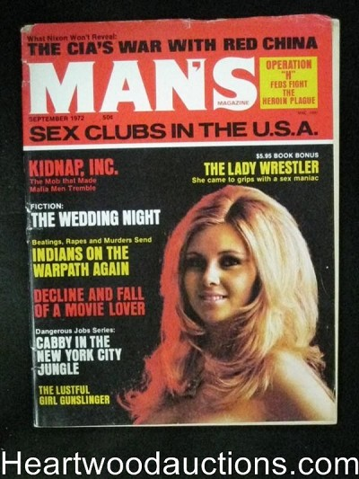 """Man's"" Sep 1972 Lady Wrestler Herion/ Belle Starr"