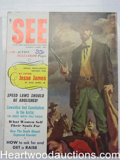 """See For Men"" March 1958 Cowboy Cover"