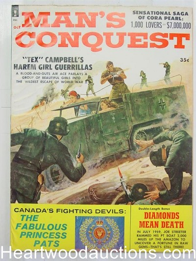 """Man's Conquest"" October 1960 WW2 Cover"