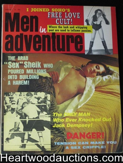 """Men in Adventure"" April 1970 Dominatrix Cover"