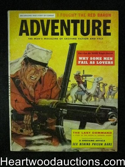"""Adventure"" September 1957Awesome George Gross , French Foreign Legion Cover"