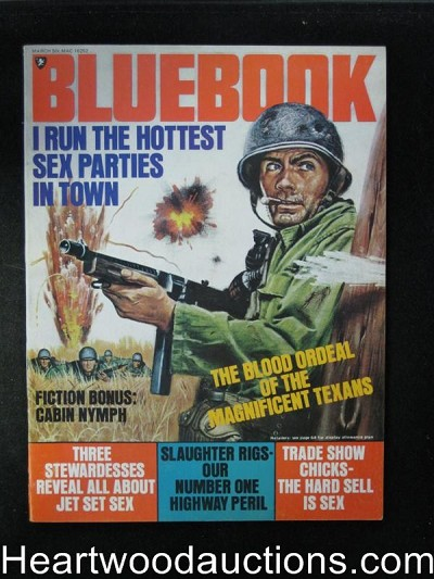 Blue Book Mar 1972 Tommy Gun Cover