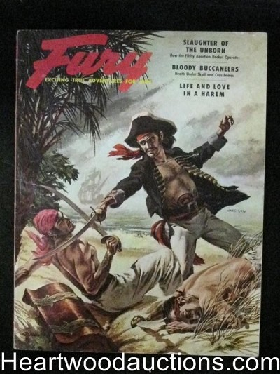 Fury Mar 1955 Pirate Cover/Tempest Storm