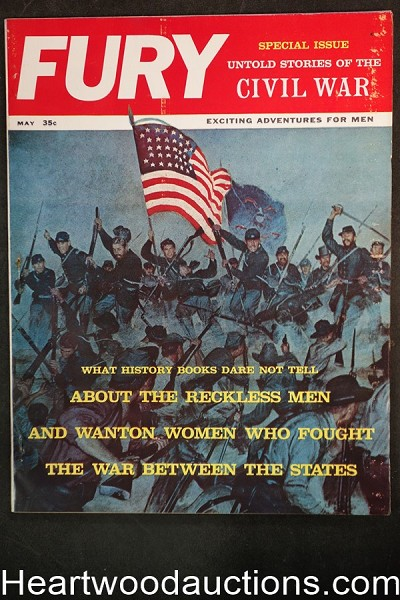 Fury May 1961 Special Civil War Issue, Patti Winters, Murder of Abraham Lincoln - High Grade- NAPA