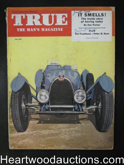 True Jun 1953 Boxing, Shark Fishing, Bugatti Antique Car Cover