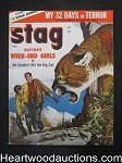 Stag Dec 1955 Cougar Cover, Lou Marchetti - High Grade- NAPA