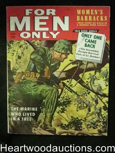 For Men Only Mar 1958 James Bama, Patton, Women's Barrack's