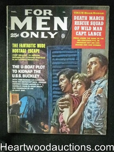 For Men Only Mar 1961 Kunstler Cover, Popp, Nappi
