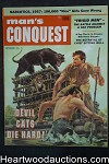Man's Conquest Nov 1957 Panther Cvr, Ann Cummings, Alcatraz, Chief Sitting Bull - High Grade- NAPA