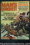 Man's Conquest Apr 1964 Saunders, Wenzel, Terry Higgins, Hitler, Guadalcanal - Ultra High Grade- NAPA