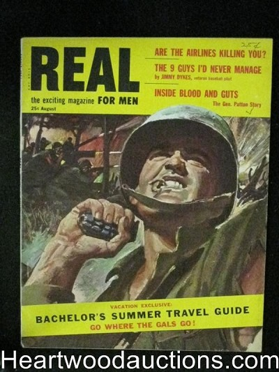 Real Aug 1955 Saunders illustration,Black Hand,Baseball
