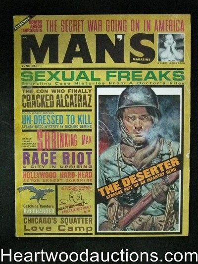 Man's Jun 1963 Bob Powell, Mel Crair cover,Richard Deming 1st appearance
